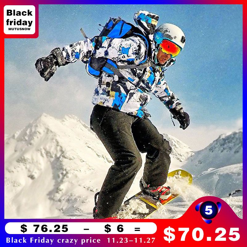 Ski Suit Men Winter New Outdoor Windproof Waterproof Thermal Male Snow <font><b>Pants</b></font> sets Skiing And Snowboarding Ski Jacket Men Brands
