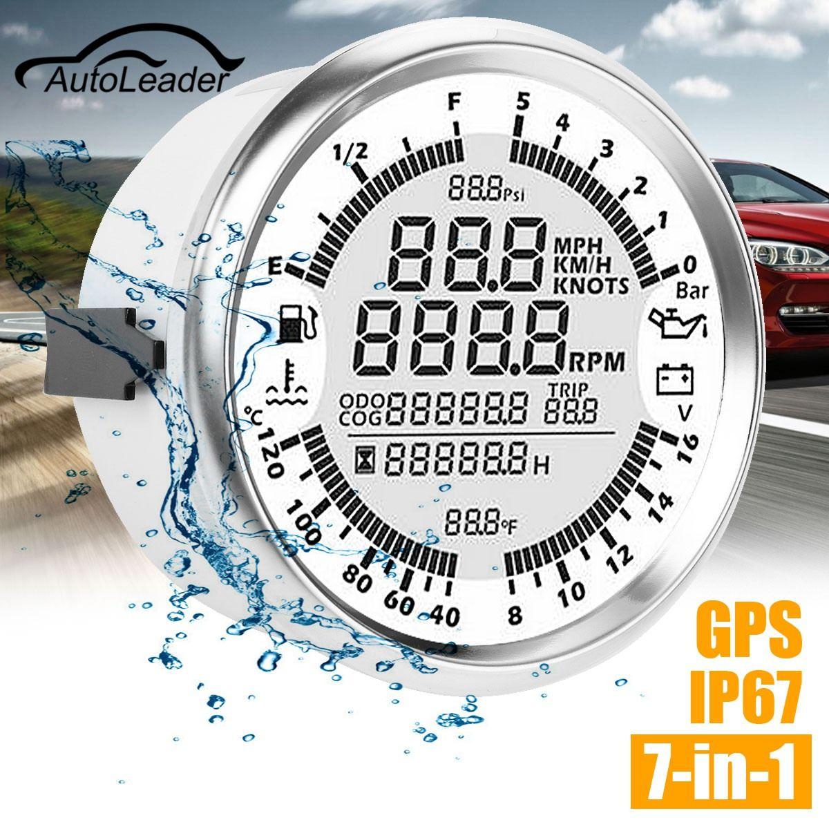 Autoleader 85mm GPS Speedometer Oil Pressure Gauge Fuel Gauge Tachometer Speed Boat Car DIY