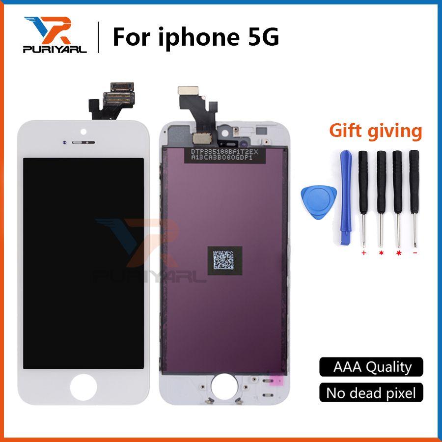 AAA + + + Qualität Für iPhone 5 5g 4 s LCD Display Mit Touch Screen Digitizer Für Defekte iPhone 5 Lcd-bildschirm Kostenloser Versand