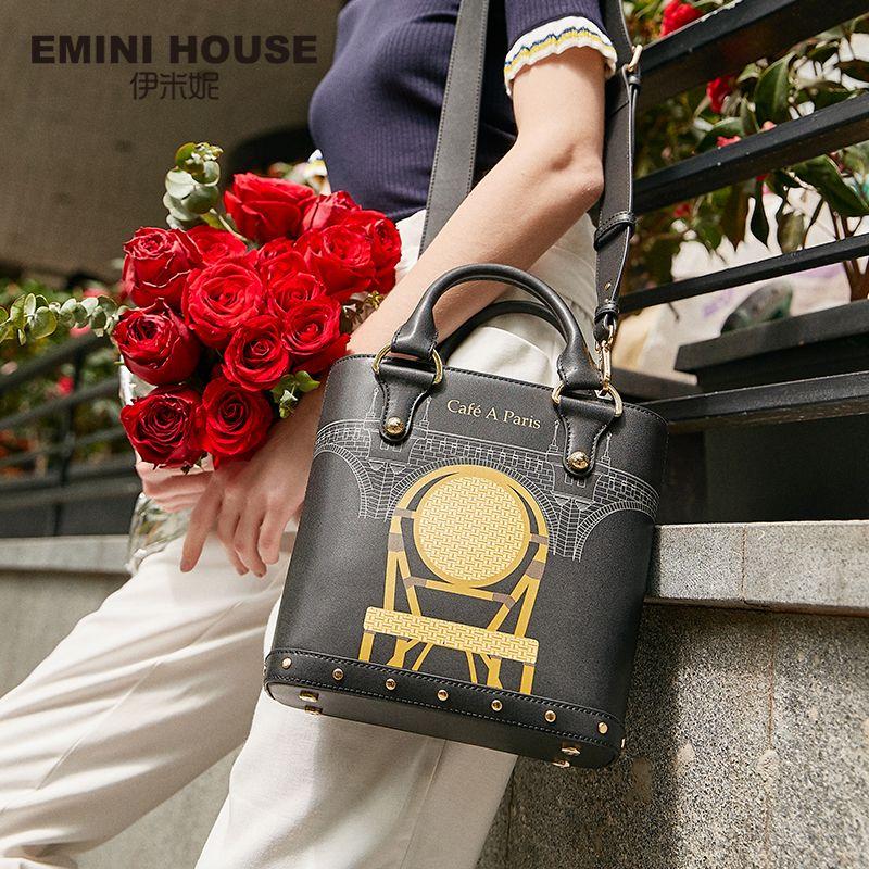 EMINI HOUSE Paris Series Mini Tote Bag For Women Luxury Handbags Women Bags Designer Shoulder Bag Crossbody Bags For Women