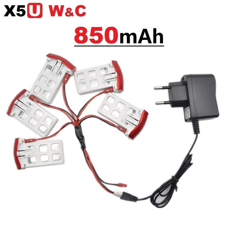 SYMA X5UW X5UC 850 mAh 3.7 V LiPo Batterie + 220 ~ 240 V Euro ou US Plug AC Chargeur RC Drone Quadcopter Batterie De Rechange pièces