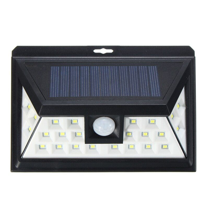 24 LED Solar Light Outdoor LED Garden Light White Light PIR Motion Sensor Solar Power Security Pathway Wall Lamp Waterproof