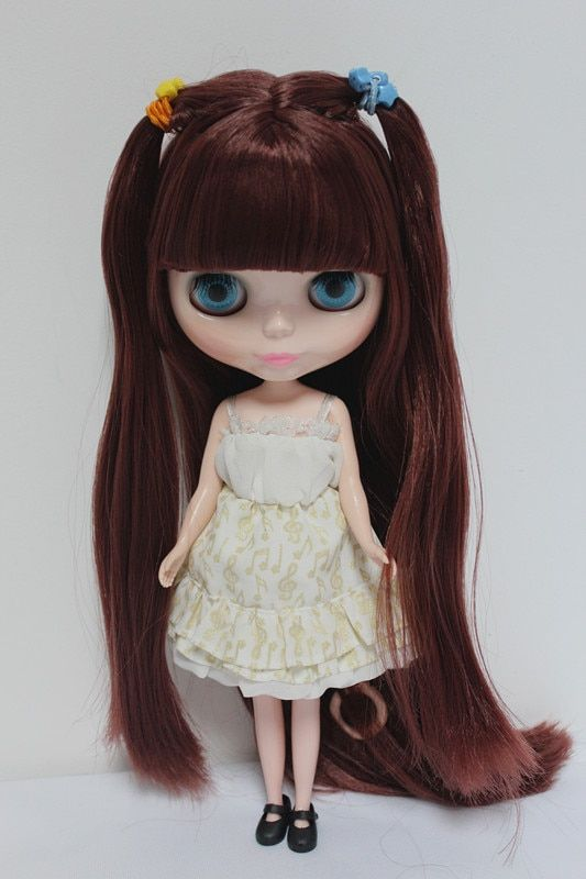Free Shipping big discount RBL-71DIY Nude Blyth doll birthday gift for girl 4 colour big eyes dolls with beautiful Hair cute toy