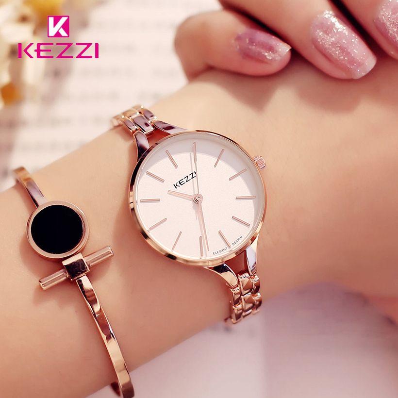 KEZZI Luxury Brand Watches Women Waterproof Stainless Steel Quartz Watch Roman <font><b>Scale</b></font> Multi Cutting Surface Mirror Bracelet Watch