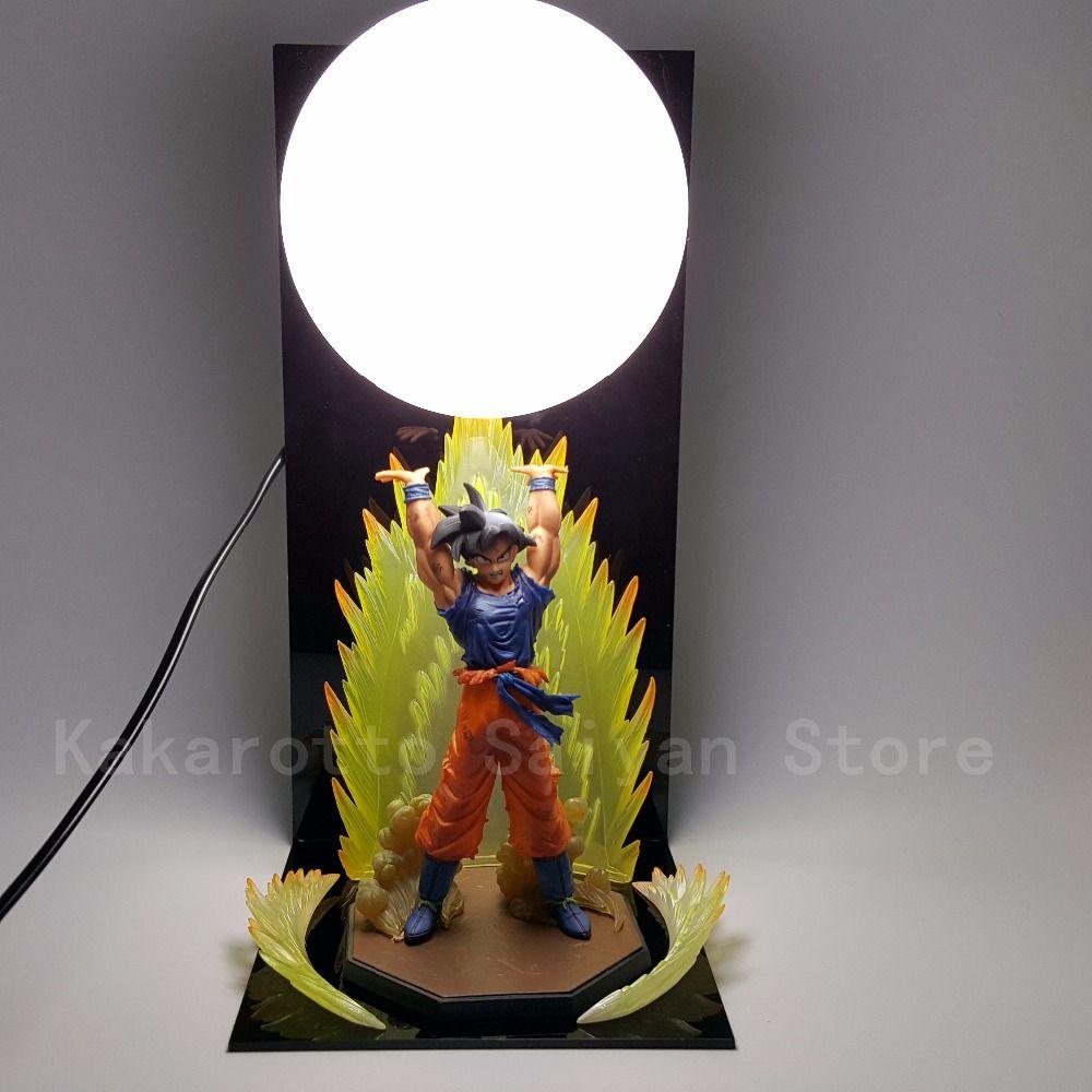 Dragon Ball Z Figurines Jouets Fils Goku Genki damaSpirit Bombe DIY Anime Dragonball Esferas Del Dragon + Balle + Base