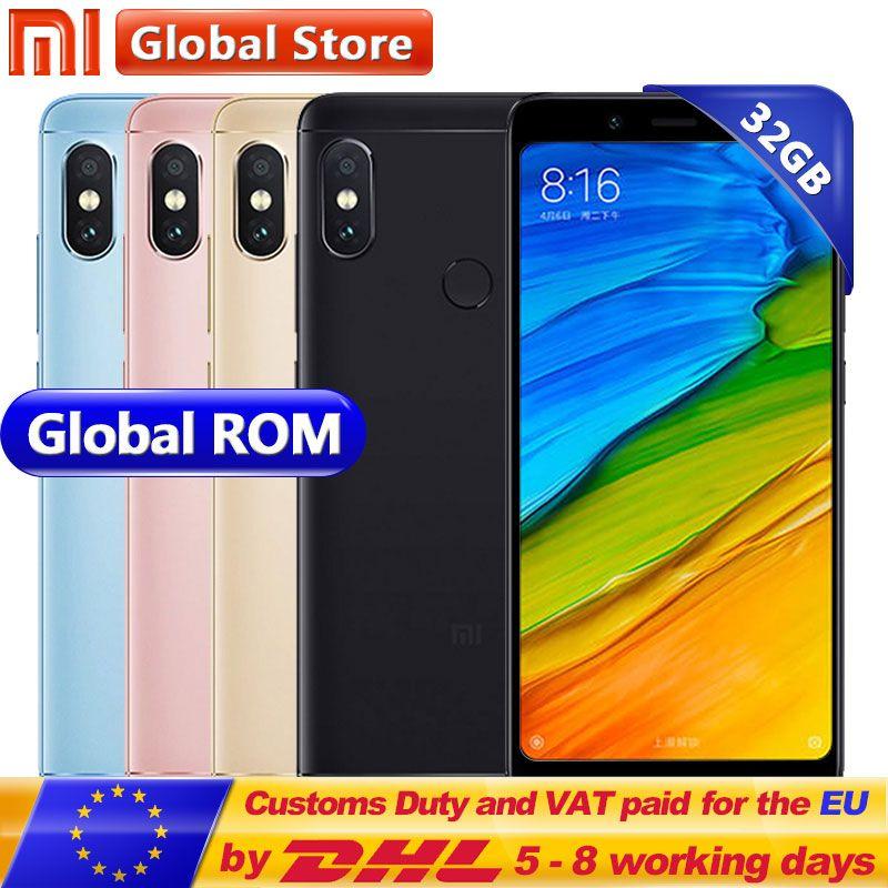 D'origine Xiaomi Redmi Note 5 3 gb 32 gb Mobile Téléphone Snapdragon S636 Octa Core MIUI9 5.99 2160*1080 4000 mah 12.0MP