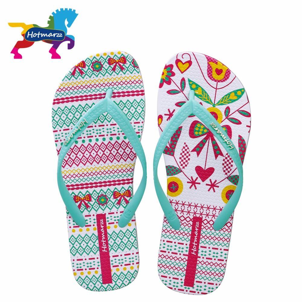 Hotmarzz Femmes Flip Flops Mode Diapositives Été Pantoufles Maison Chaussures de Plage Pantufa Dames String Plat Sandales Chaussures Femme