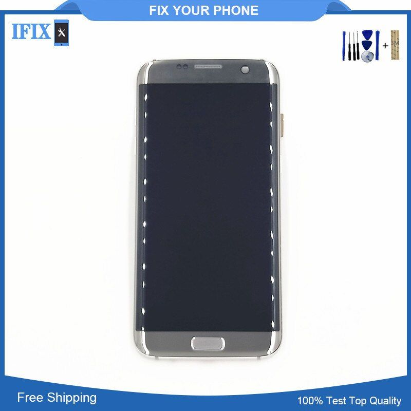 5.5'' FHD For SAMSUNG Galaxy S7 EDGE G935 G935F LCD Display Touch Screen Digitizer Assembly With Frame For S7Edge LCD Parts