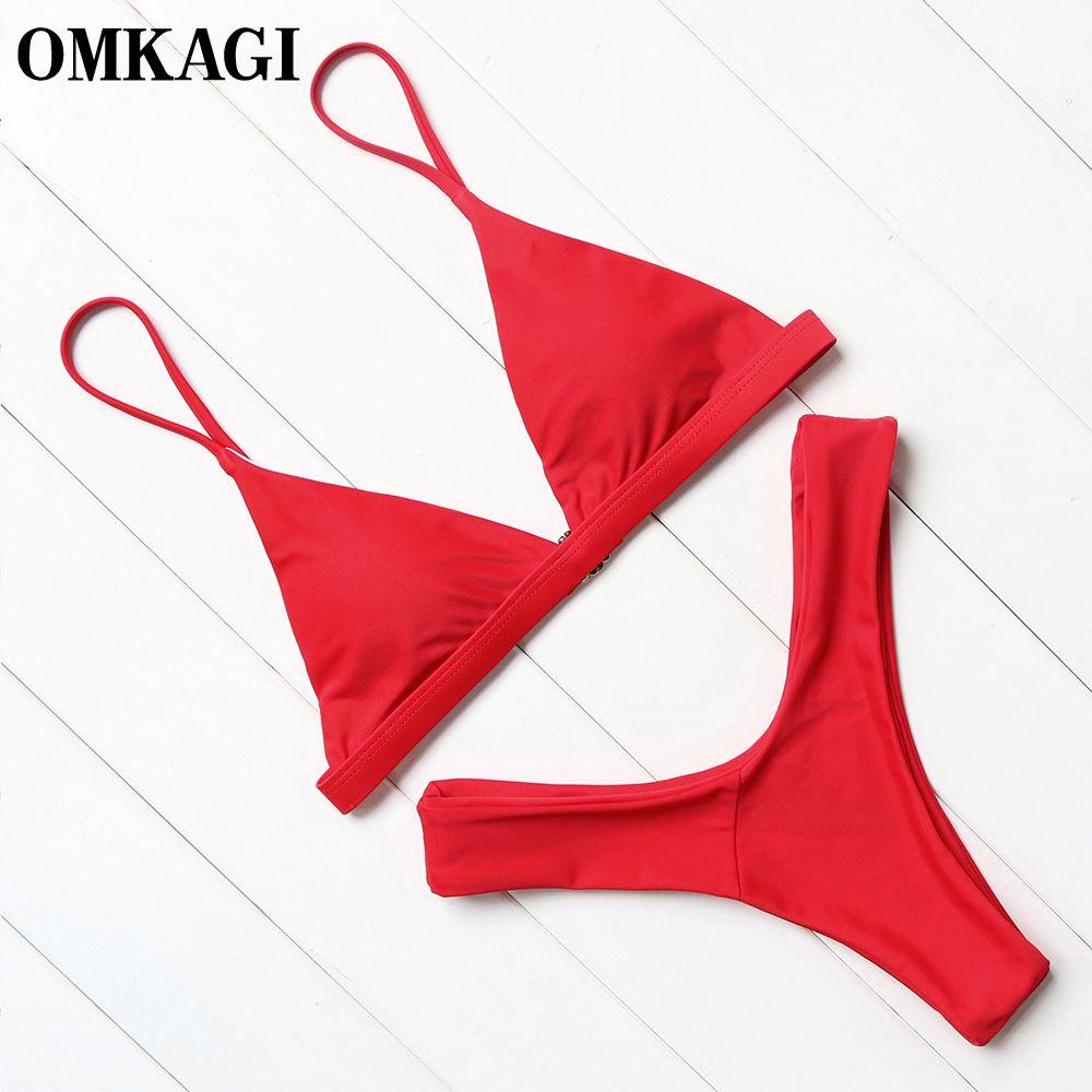 OMKAGI maillot de bain de marque maillot de bain femme Sexy push up Micro Bikinis Ensemble De Natation maillot de bain Beachwear D'été Bikini Brésilien 2019