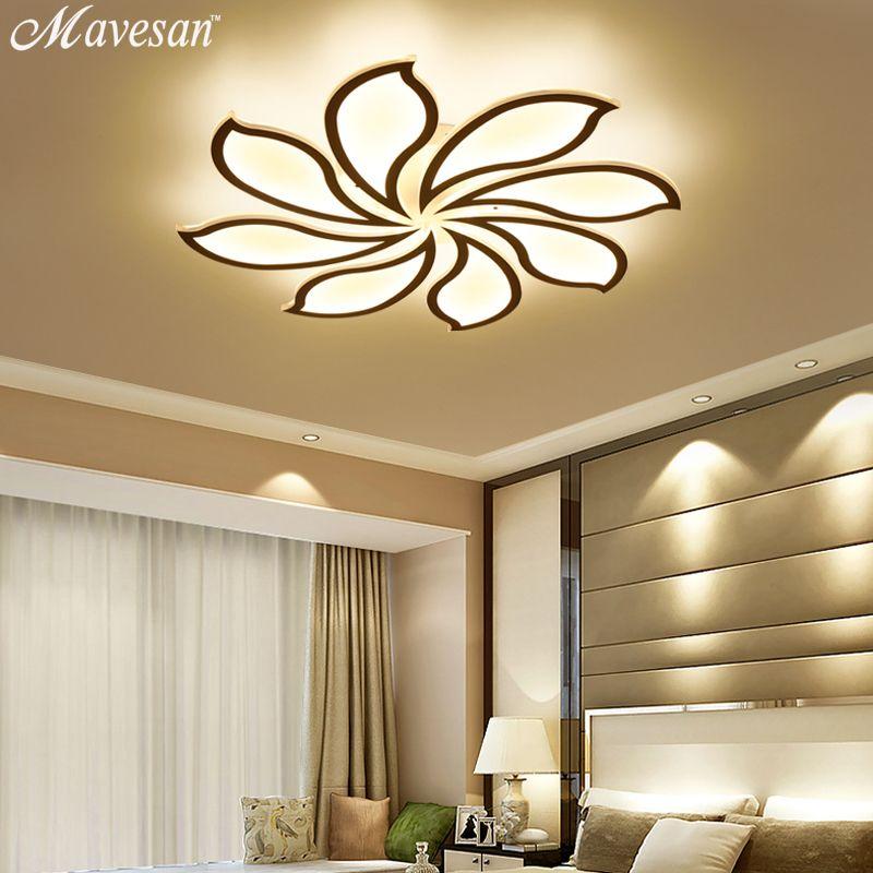 2018 decke lichter Moderne Led Acryl für wohnzimmer schlafzimmer AC85-265V Neue Weiß moderne Decken Lampe Leuchten unterputz