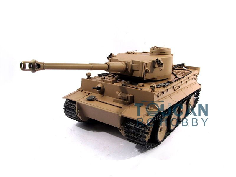 100% Metal Mato 1/16 Tiger I RC RTR Tank Model BB Shooting Pellet Yellow 1220