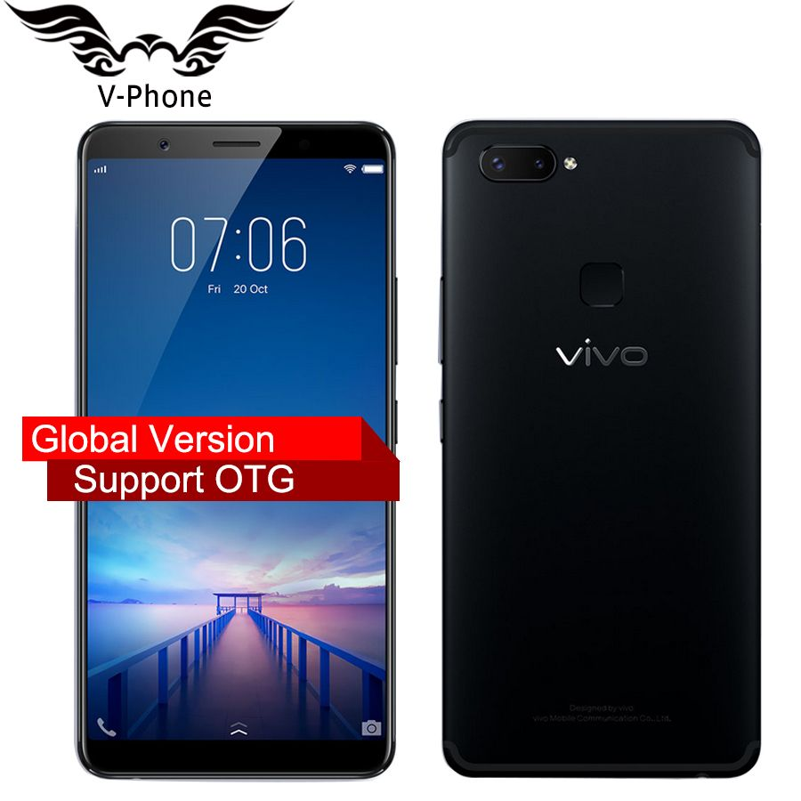 Global firmware VIVO X20 Plus Mobile phone Snapdragon 660 4GB RAM 64GB ROM Full Scree 6.43 Dual Rear Camera 4G LTE CellPhone