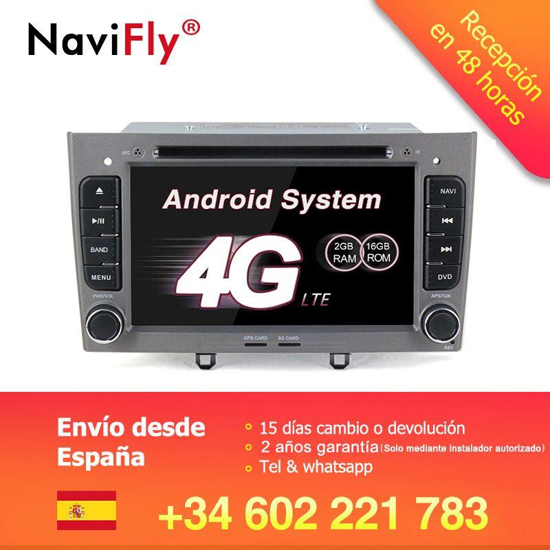 Freies verschiffen! 7 zoll android7.1 Auto GPS Navigation dvd für Peugeot 308 408 FM Bluetooth AVIN Karte Freies Upgrade Navitel Europa