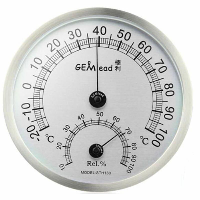 Gemlead высокое Температура измерения Нержавеющаясталь Крытый Открытый термометр гигрометр сауна Для ванной лаборатории метеостанции