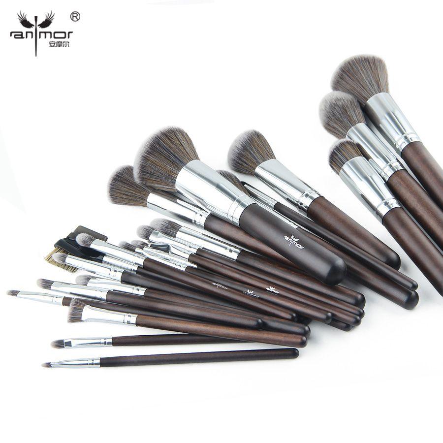 Anmor 23 pièces pinceaux de maquillage professionnel fond de teint synthétique pinceaux de maquillage poudre douce Blush fard à paupières maquillage outils brochas
