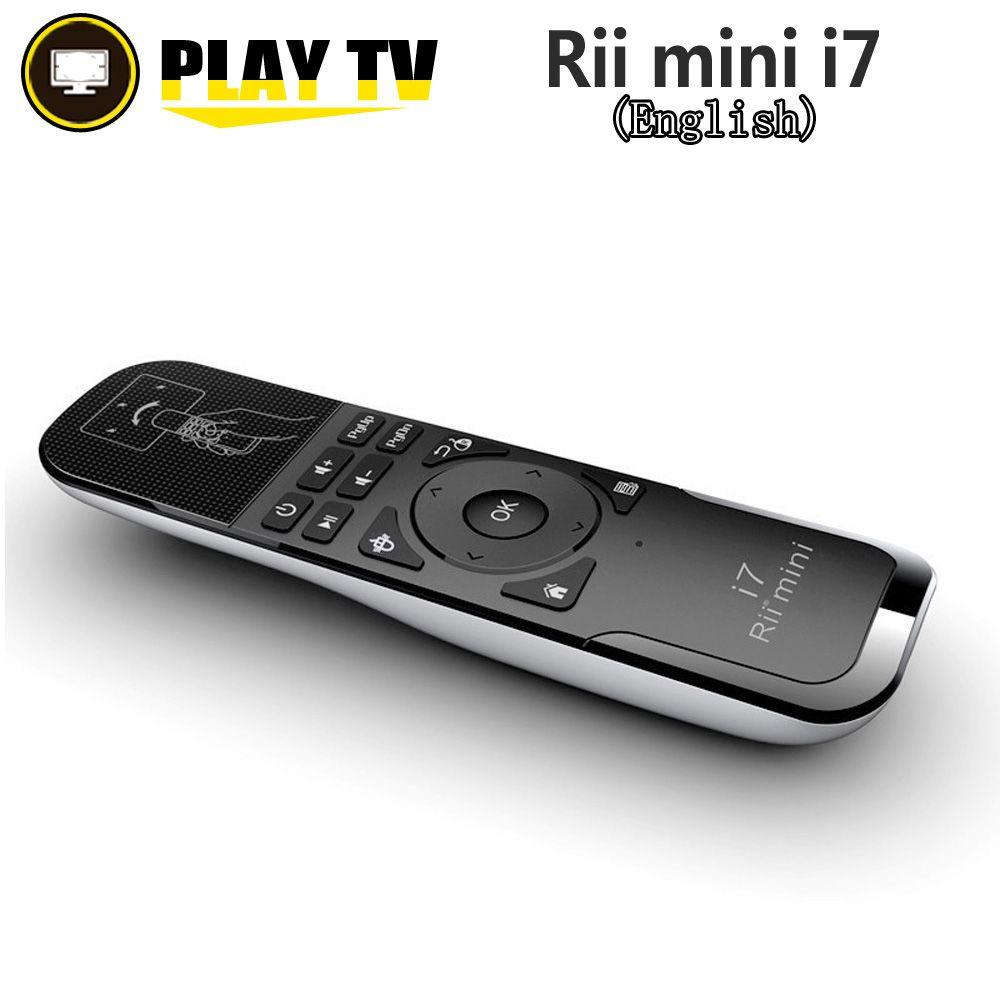 Original Rii Mini i7 2.4G sans fil mouche Air souris télécommande détection de mouvement intégré dans 6 axes pour Android TV Box Smart PC