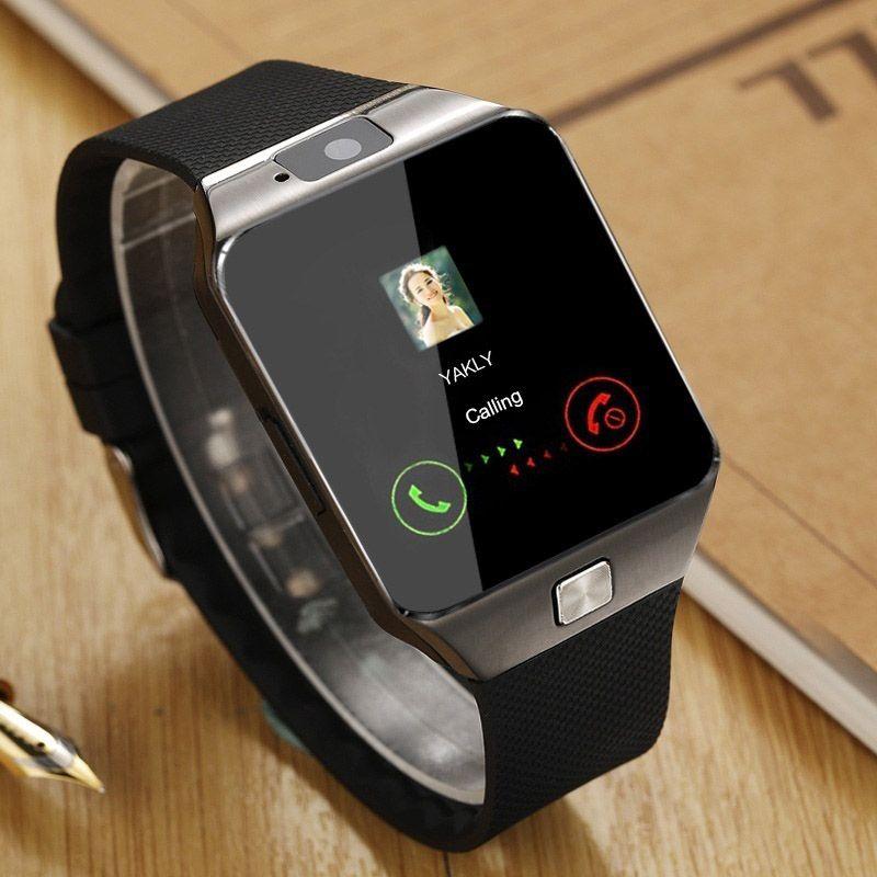 Nouveau Smartwatch Intelligent numérique Sport or montre intelligente DZ09 podomètre pour téléphone Android montre-bracelet hommes femmes montre satti
