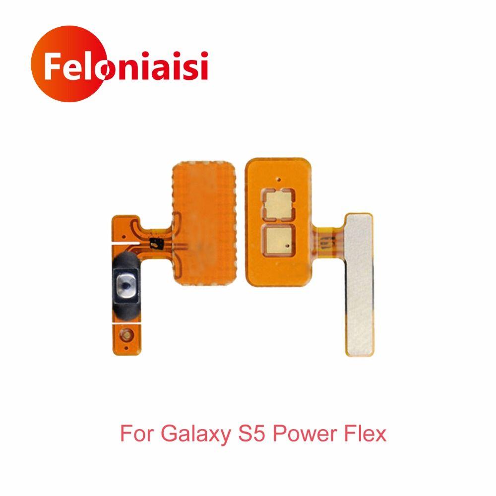 Hohe Qualität Für Samsung Galaxy I9600 S5 G900F Power Button Flex-kabel Auf Aus-schalter Flexkabel-band