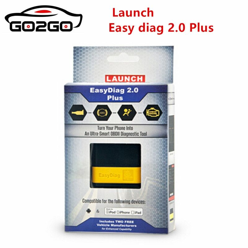 100% Original Launch X431 EasyDiag 2.0 plus Easy Diag 2.0 For Android&IOS with 2 Free Software car Diagnostic Tool Free shipping