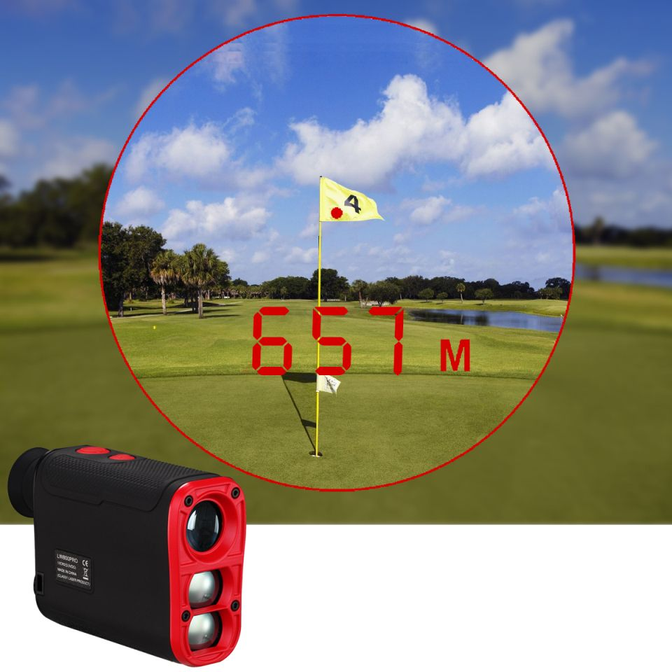 LaserWorks 800 yards Golf Hunting Laser Rangefinder Night Visible Red Readings Compact Lightweight