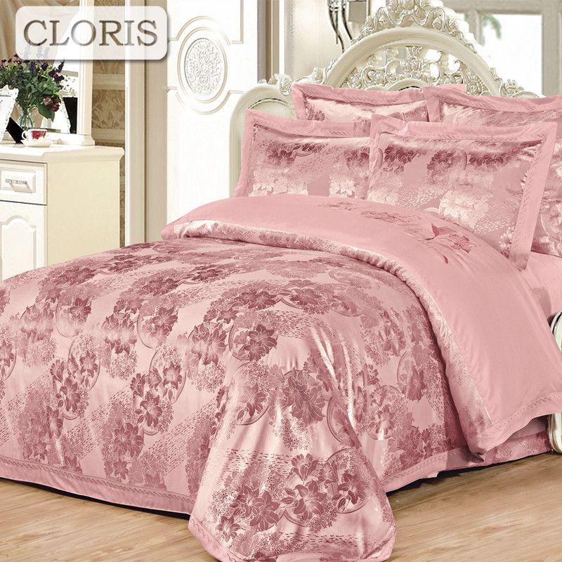 CLORIS Design 2018 Baumwolle Bettwäsche Königin König Größe Bettwäsche-sets Mode Jacquard Bettbezug Flache Blatt Bettwäsche Kissenbezüge