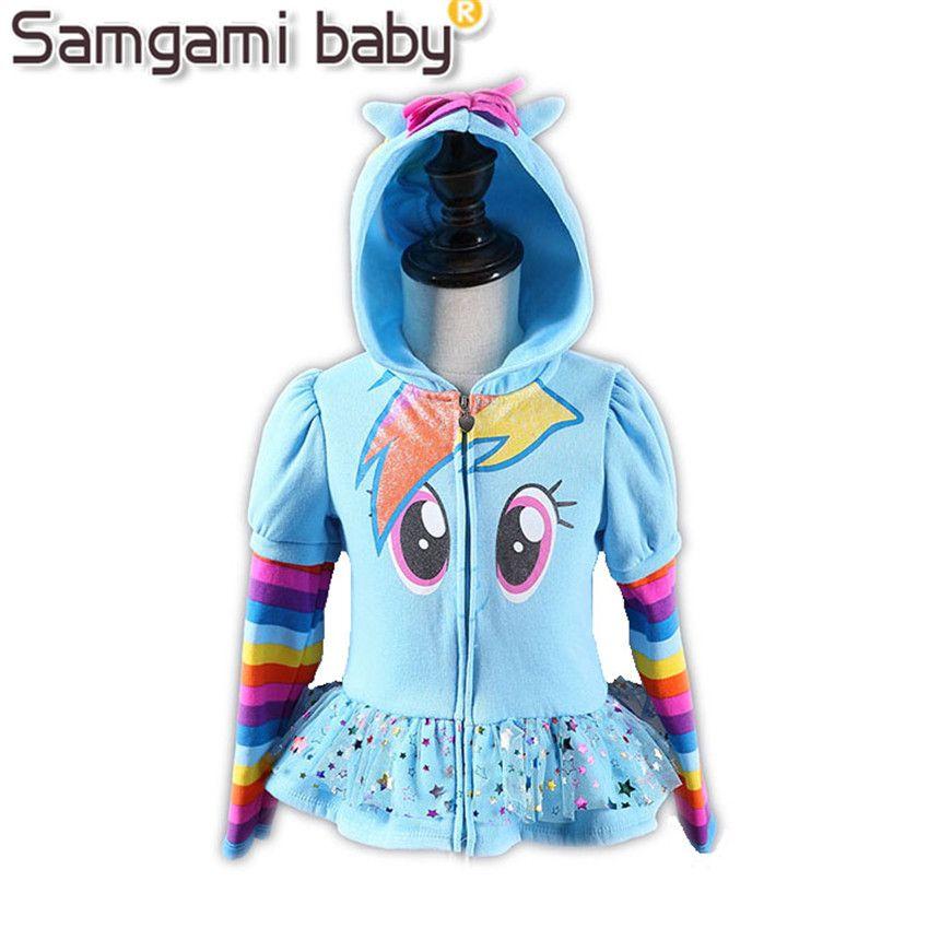 Samgami Новый 2017 Обувь для девочек маленький пони Детская куртка детская мой пальто симпатичное пальто для девочек и Толстовки и куртка для дев...