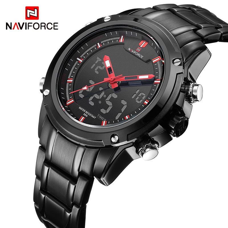 NAVIFORCE Luxury Brand Men Sports Army Military Watches Men's Quartz Analog LED Clock Male Waterproof Watch relogio masculino
