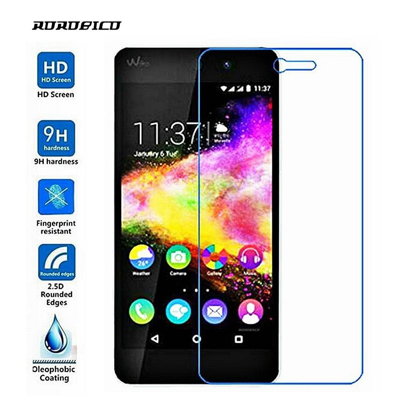 ROROBICO For Wiko Rainbow UP Screen Protector 0.26mm 2.5D Premium Front Film HD Transparent Toughened Tempered Glass Rainbow UP