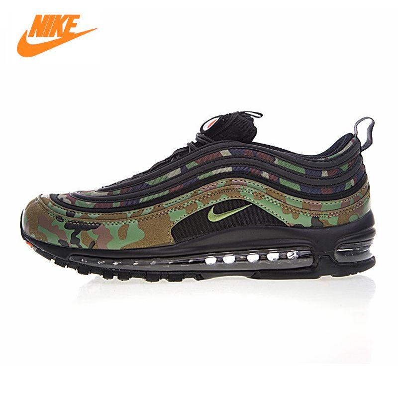 Nike Air Max 97 Premium 97 Land Camo Japan männer Laufschuhe, grün Gelb, Schiebe Anti-slip AJ2614-202 AJ2614 203