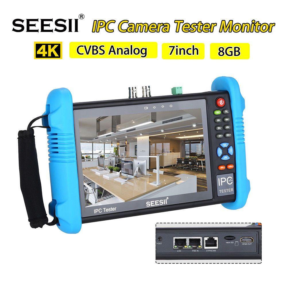 SEESII 9800 PLUS 7 zoll 1920*1200 IP Kamera Tester 4 K 1080 P IPC CCTV Monitor Video Audio POE Test Touchscreen HDMl Entdeckung 8 GB