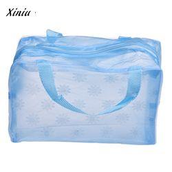 Косметический портативный мешок макияж сумка туалетные принадлежности для путешествий мыть Зубная щётка сумка-Органайзер прозрачная сумк...