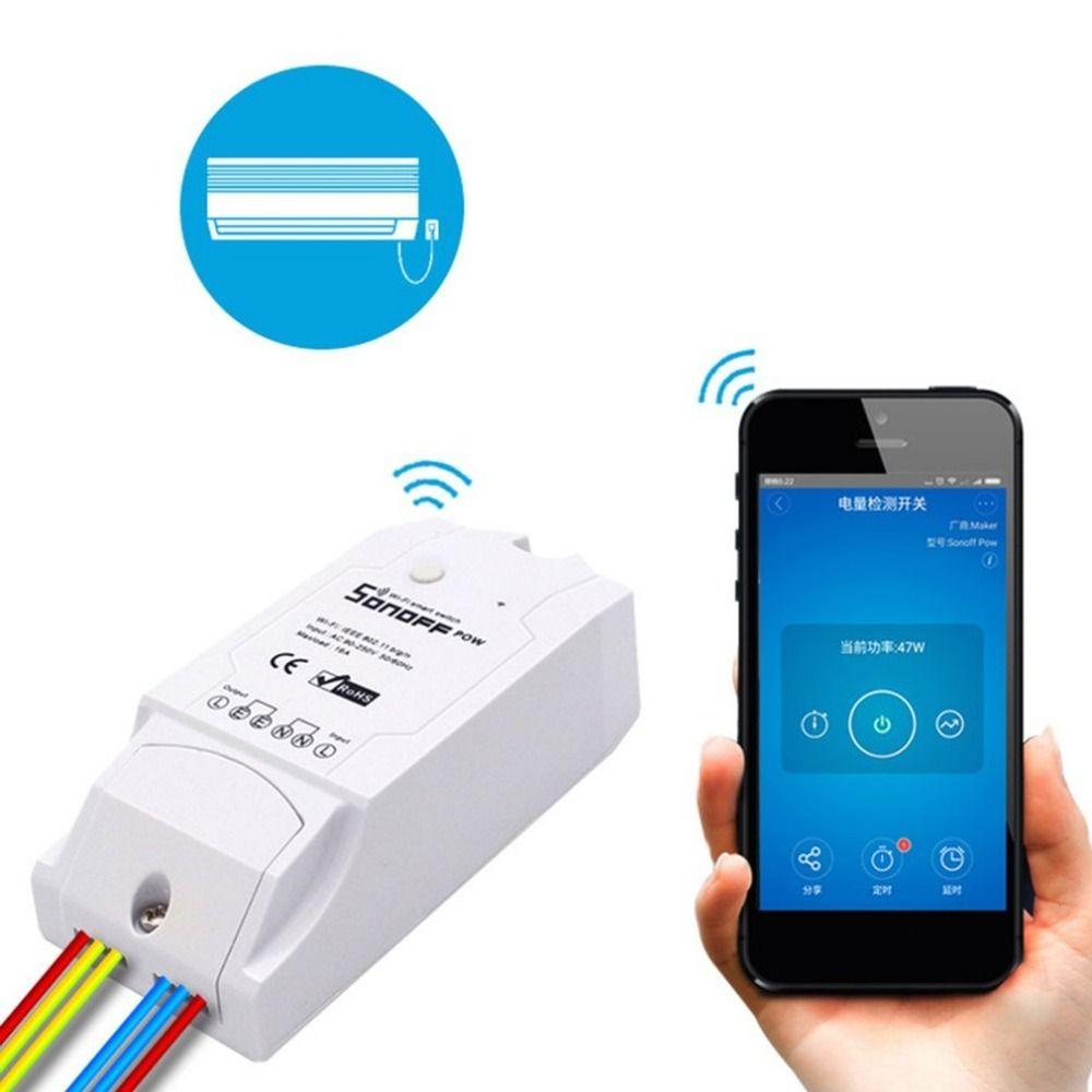 Sonoff Pow Wifi Schalter Relaismodul AC 90 V-250 V 16A Drahtlose Licht Zeitschaltuhr echtzeit Monitor Für Smart Home Automation