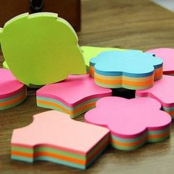 100 Halaman Multicolor Sticky Notes Lucu Cinta Memo Bantalan Stiker Posting Bookmark Penanda Bendera Planner Briefpapier Alat Kantor