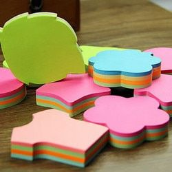 100 Pages Multicolor Sticky Notes Cute Love Memo Pads Sticker Memo Pad Bookmark Marker Flags Planner Briefpapier Office Supplies