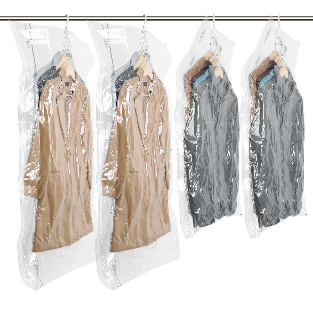 Hängen Vakuum Lagerung Tasche Space Saver Taschen für Clothers Sparen Schrank Raum Closet Organizer für Mantel/Unten jacke 4 stücke