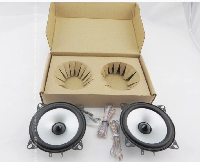 1 Pair 4 inch Car Speaker Automobile Automotive Car HIFI Full Range Bubble Gum Edge Speakers