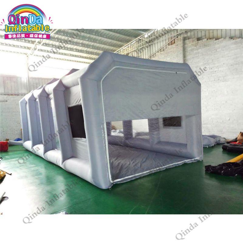Heißer verkauf mobile aufblasbare spray booth zelt tragbare aufblasbare lackierkabine zelte für auto aufrechterhaltung mit carbon luftfilter