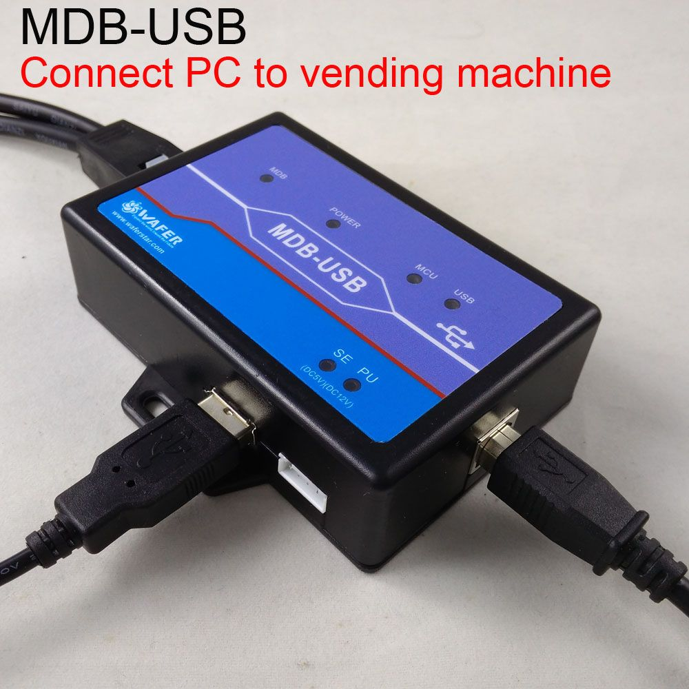 The PC to MDB adapter box, working with bill acceptor and coin validator Connect android or POS to vending machine