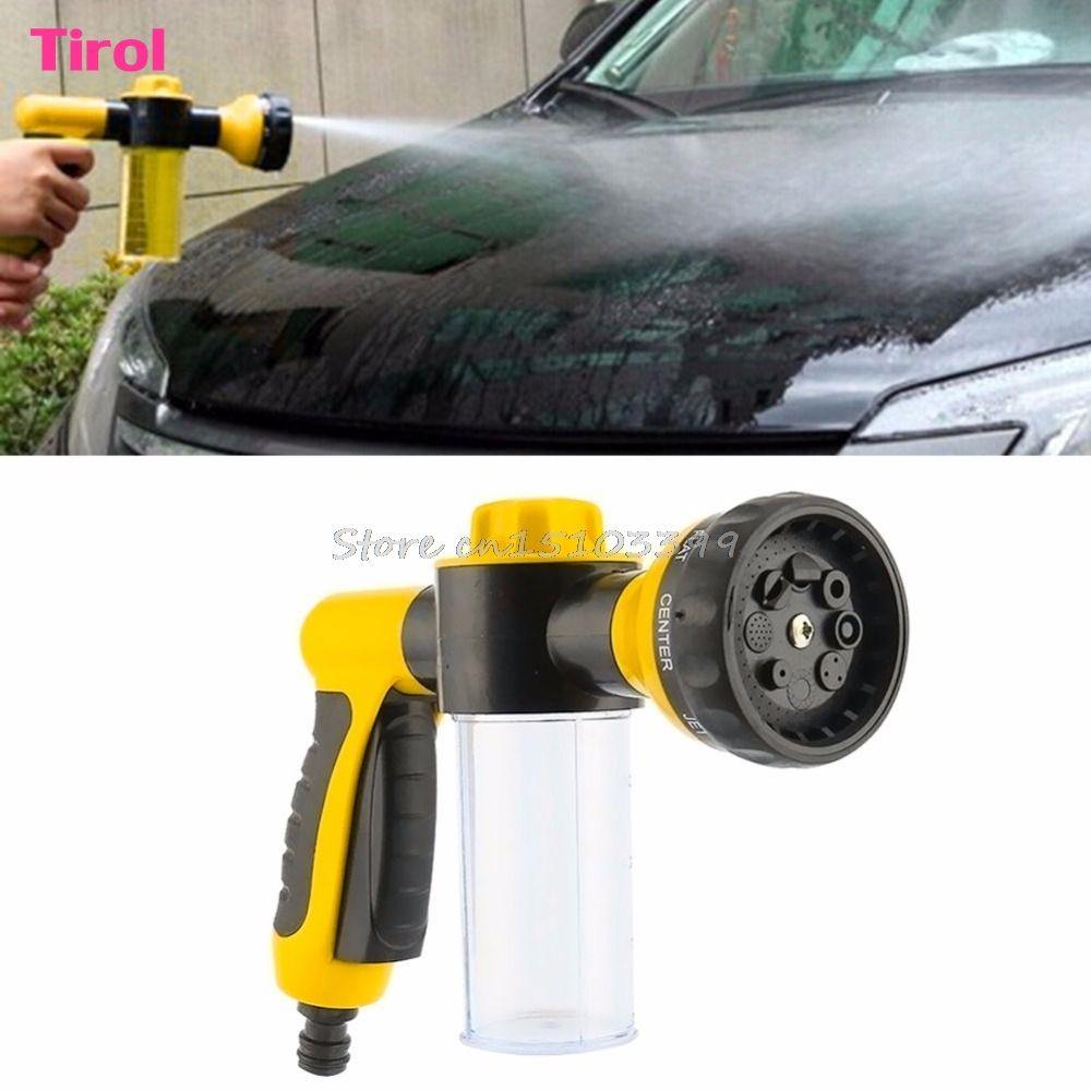 8 in1 Spray Pattern Adjustable Water Spray Gun & Soap Dispenser Hose Nozzle Car Wash Y G08 Drop ship