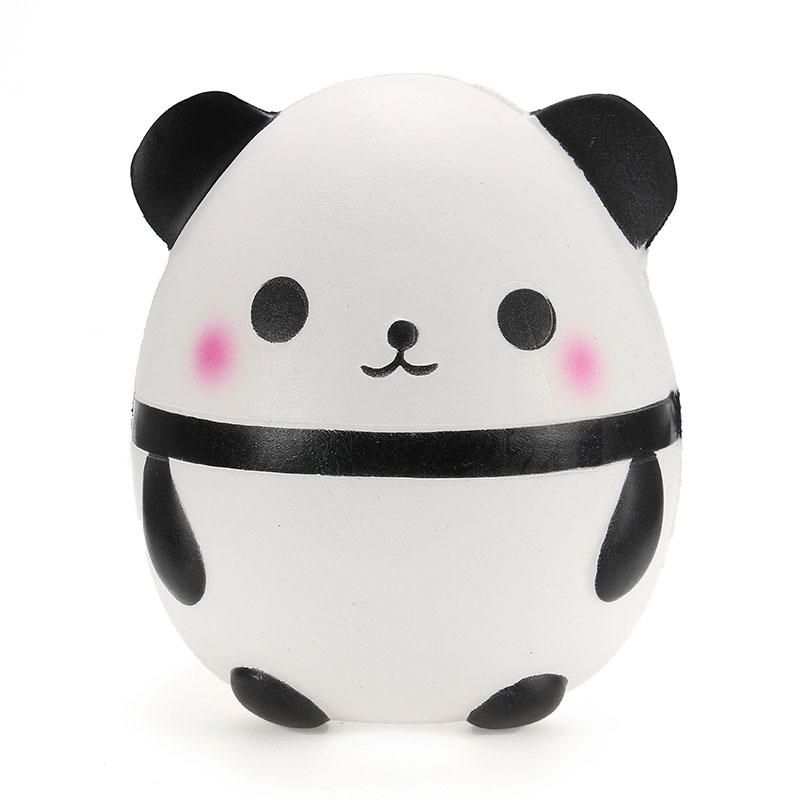 2018 New 12CM Jumbo Cute Panda Bear Squishy Slow Rising Soft Squeeze Straps Crean Scented Bread Cake Decor Toy Kid Fun Gift