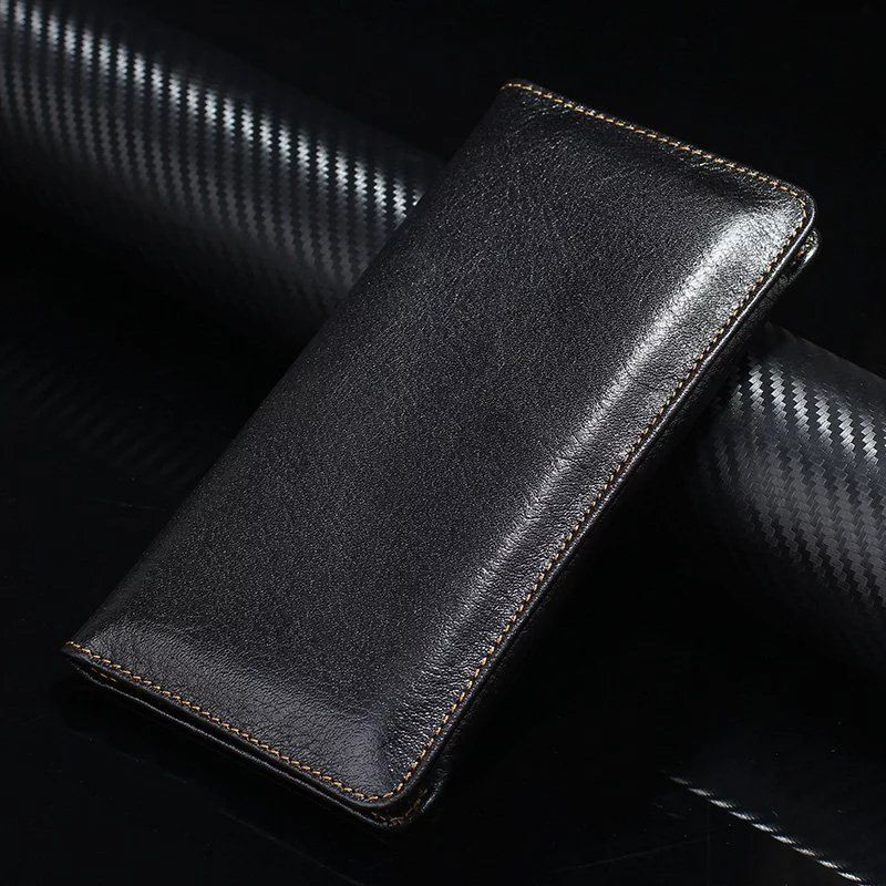 Genuine Cow Leather Phone Case Hand Card Wallet POUCH For Galaxy S6 EDGE+ S6 Edge Plus A7 A8 A9 E7,Galaxy Mega 2/J7 Pro/J7 Max