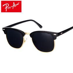 Pro Acmé Classique Marque Polarisées lunettes de Soleil Hommes Femmes Demi Métal Miroir Unisexe Lunettes de Soleil Gafas De Sol UV400 CC0832