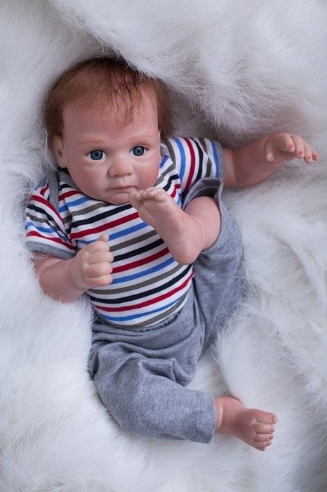 50cm New Soft Body Silicone Reborn Baby Doll Toys Lifelike Newborn Boy Baby-Reborn Doll Birthday Present Christmas Gift
