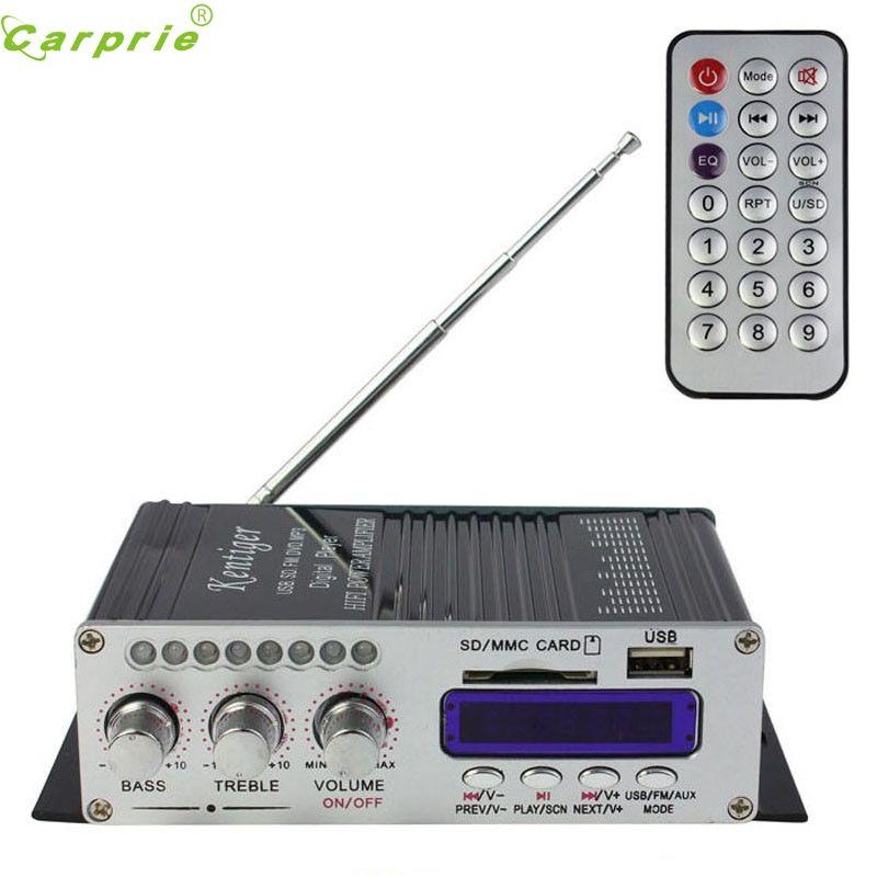 2016 Audio HiFi 200W 2CH 12V remote Small Stereo Digital Power Amplifier Advanced Mini Home Aluminum Enclosure amp NOV 16
