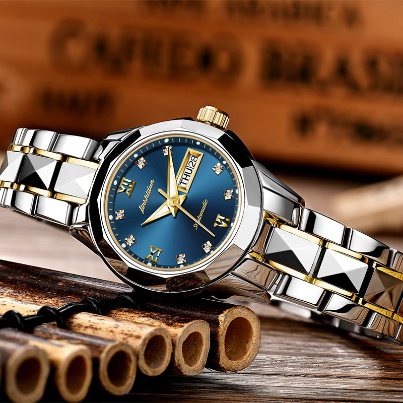 JSDUN Mechanical Watches Women Rose Gold Watch Automatic Mechanical Ladies Watches Waterproof Self-winding Clock Stainless Steel