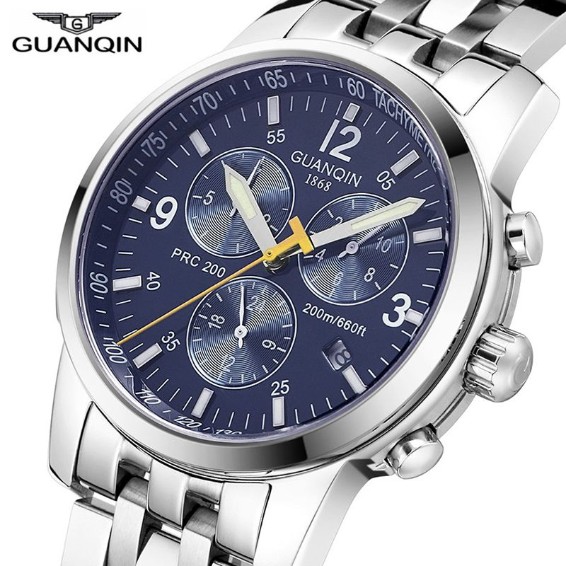 Relogio Masculino GUANQIN Mechanical Men Watches Top Brand Luxury Automatic Clock men diving waterproof gq50009 relojes hombre A