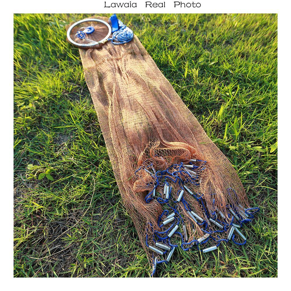 Lawaia 2.4-4.2 m De Pêche Net 3 m De Pêche Net, moins cher Chine Pliant Pêche À la Mouche Net Fly Unique Gill Net