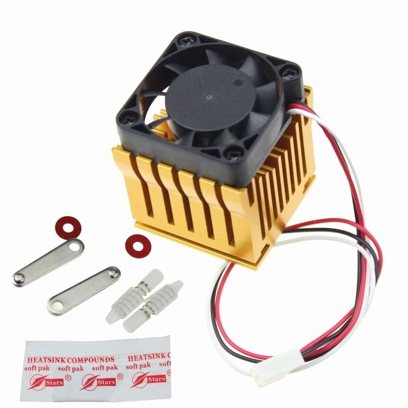 1Piece Gdstime 4010 North Bridge 40x38x36mm with Golden Heatsink And Black DC Fan 40mm x 10mm Cooling Fan Adjustable Heat sink