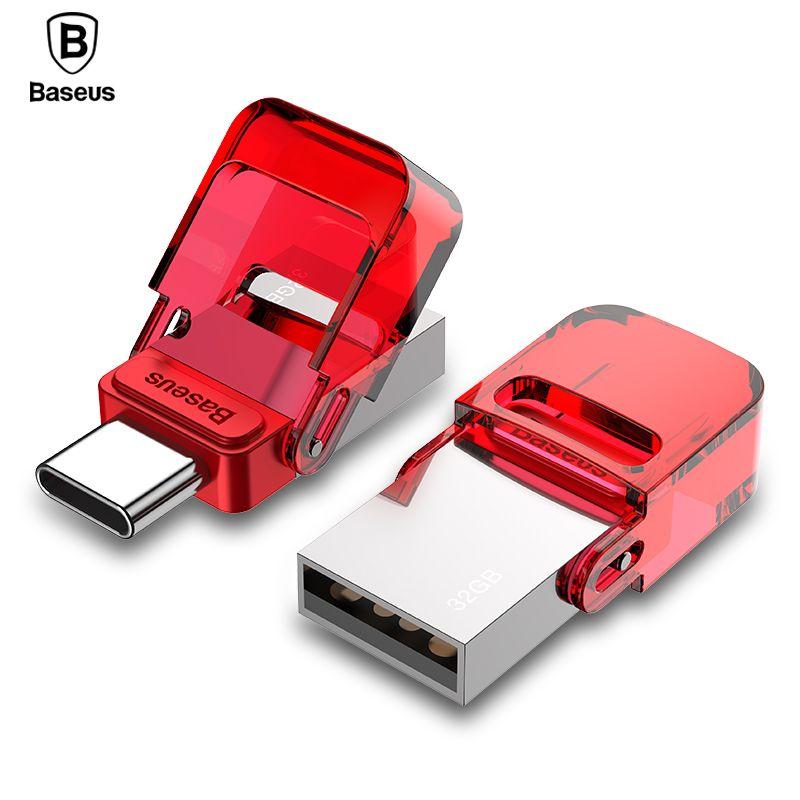 Baseus Type-C USB Flash Drive 32GB OTG Pendrive High Speed Flash Memory Stick For Phone Macbook PC Pen Drive Mini Typc C U Disk