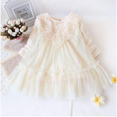 Retail! New 2018 brand newborn baby girls dress full of lace baby party dress infant babywear kids children baby clothing